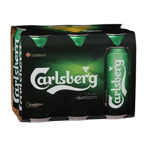 CARLSBERG CANS 6PK 5% 440ML