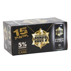 CODYS 5% CANS 15PK 250ML