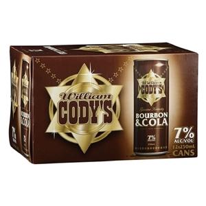 CODYS 7% 12PK CANS 250ML
