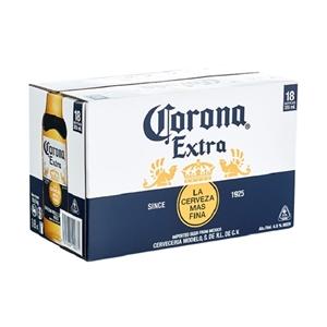 CORONA MEXICAN BEER 18PK BTLS 355ML