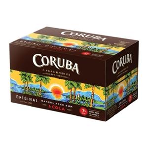 CORUBA 7% RUM N COLA 12PK CANS 250 ML
