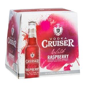 CRUISER 5% RASPBERRY 12PK BTLS 275ML