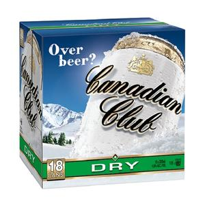 CANADIAN CLUB N DRY 18PK 330ML