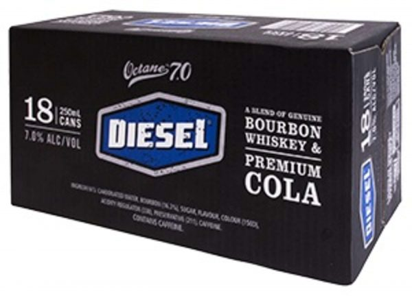 Diesel and Cola 7% 250mL Can 18 Pack