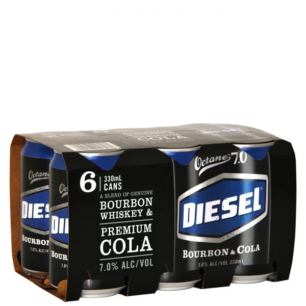 Diesel and Cola 7% 330mL Can 6 Pack