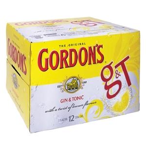GORDONS G&T 7% 12PK CANS 250ML