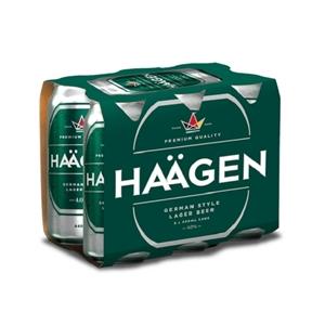 HAAGEN LAGER 6PK CANS 440ML