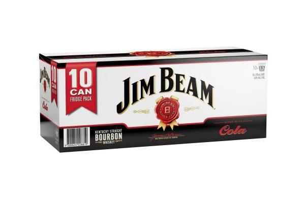 Jim beam & cola 10pk cans