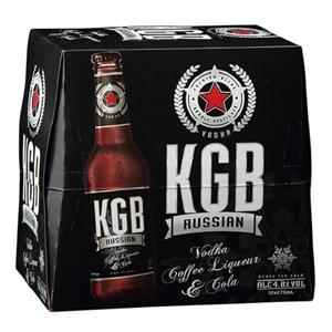 KGB 5% VODKA BLACK RUSSIAN 12PK BTLS 275ML