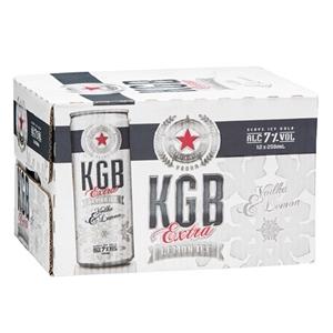 KGB 7% VODKA LEMONADE 12PK CANS 250ML