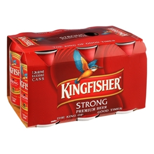 KINGFISHER STRONG 7.2% 6PK CANS 330ML