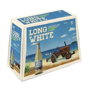 LONG WHITE VODKA LEMONLIME 10PK BTLS 320ML