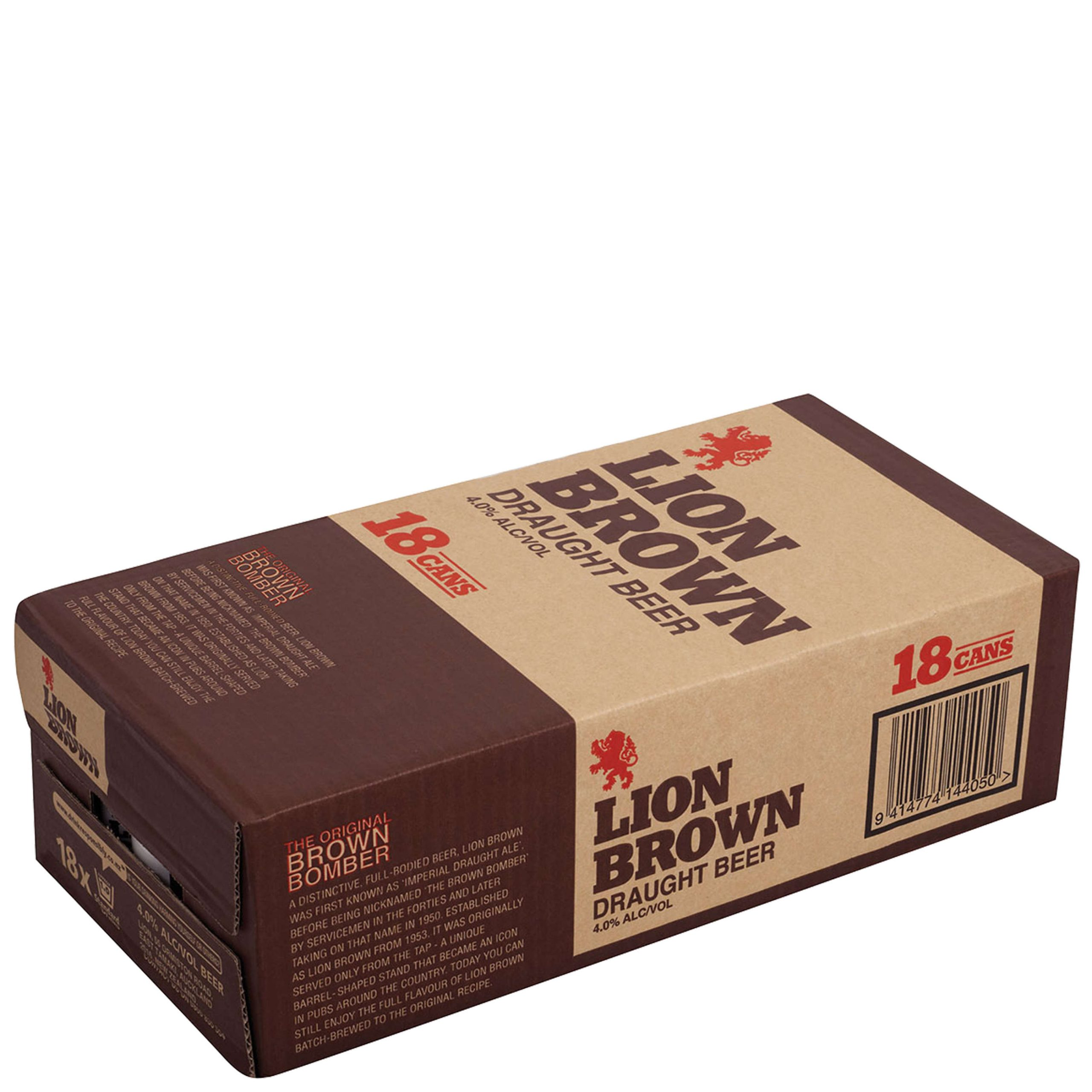 Lion Brown 440mL Can 18 Pack