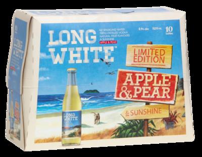 LONG WHITE APPLE PEAR 10PK BTLS 320ML