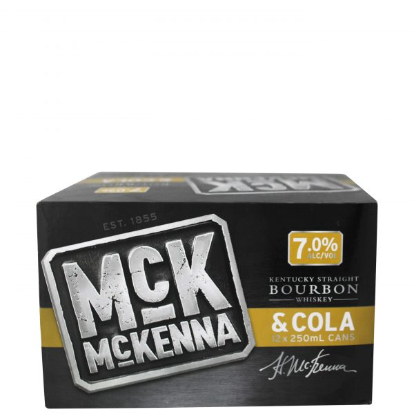 McKenna and Cola 7% 250mL Can 12 Pack