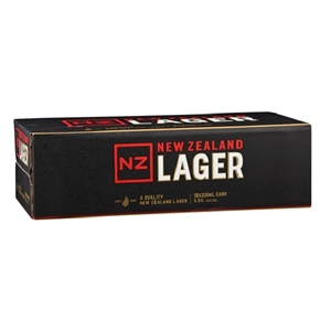 NZ LAGER 18PK 5% 330ML CANS