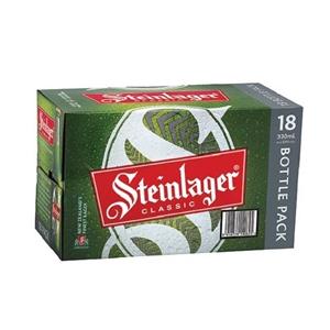 STEINLAGER CLASSIC LAGER 18PK BOTTLES 330ML
