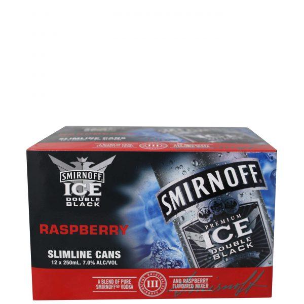 Smirnoff Ice Double Black Raspberry 7% 250mL Cans 12 Pack