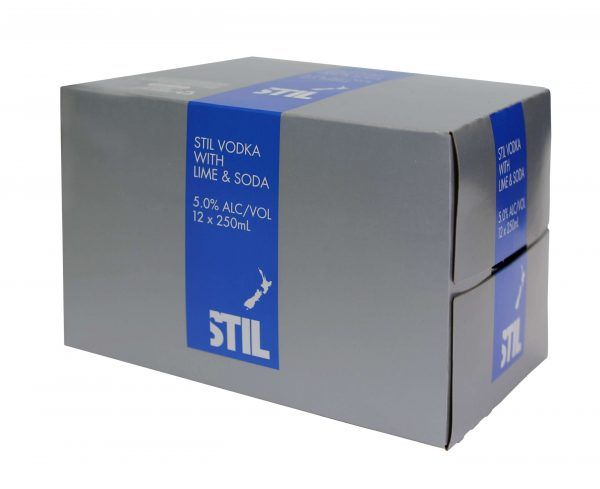 Stil Lime and Soda 5% 250mL Can 12 Pk (dated stock)
