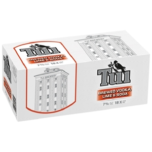 TUI VODKA LIME AND SODA 7% 18PK CANS 250ML