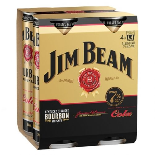 Jim Beam 7% 4 pack 250ml cans