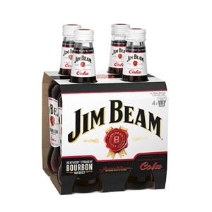 Jim beam 4.8% 4 pack 330ml btls