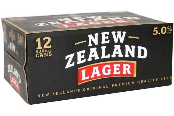 NZ LAGER 5% 330ML 12 pack