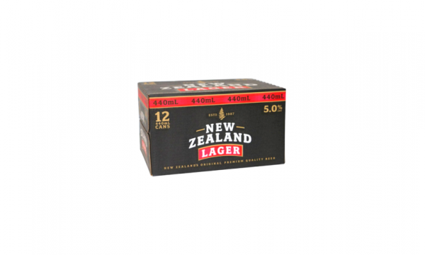 NZ LAGER 5% 440ml 12 pack cans